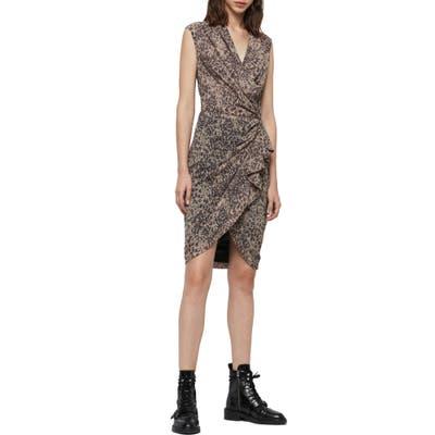 Allsaints Cancity Patch Dress, Brown