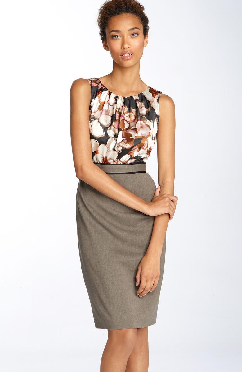 T TAHARI 'Kaiya' Mock Two Piece Dress, Main, color, 266