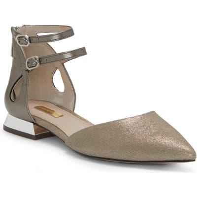 Louise Et Cie Carlen Ankle Strap Flat- Grey