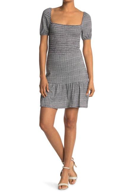 Image of Velvet Torch Puff Sleeve Smocked Dress