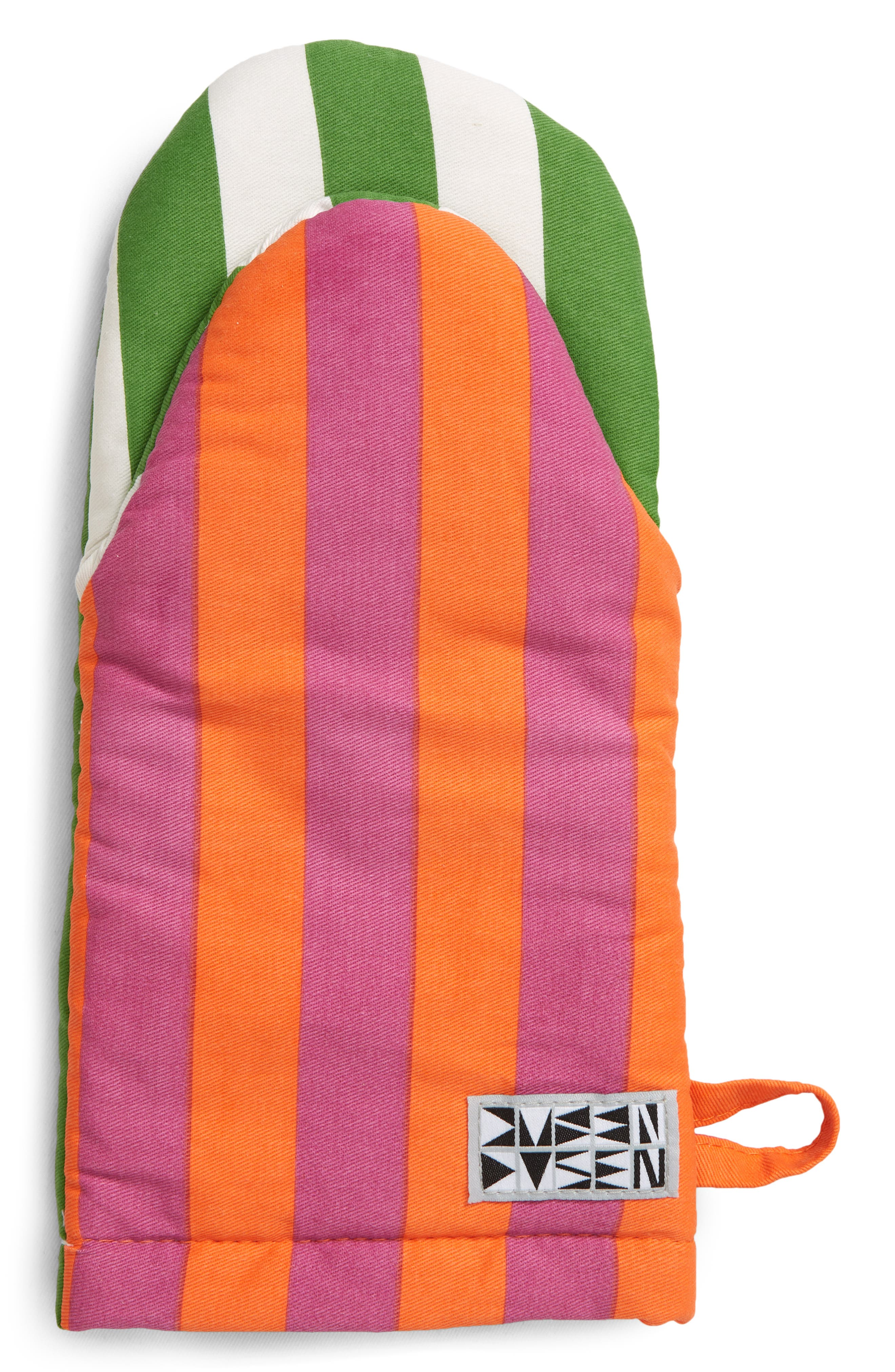 FREE P /& P BRAND NEW STRIPED OVEN GLOVES