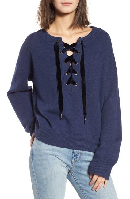 Image of Rails Olivia Lace-Up Sweater