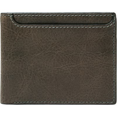 Fossil Morris Leather Bifold Wallet - Grey