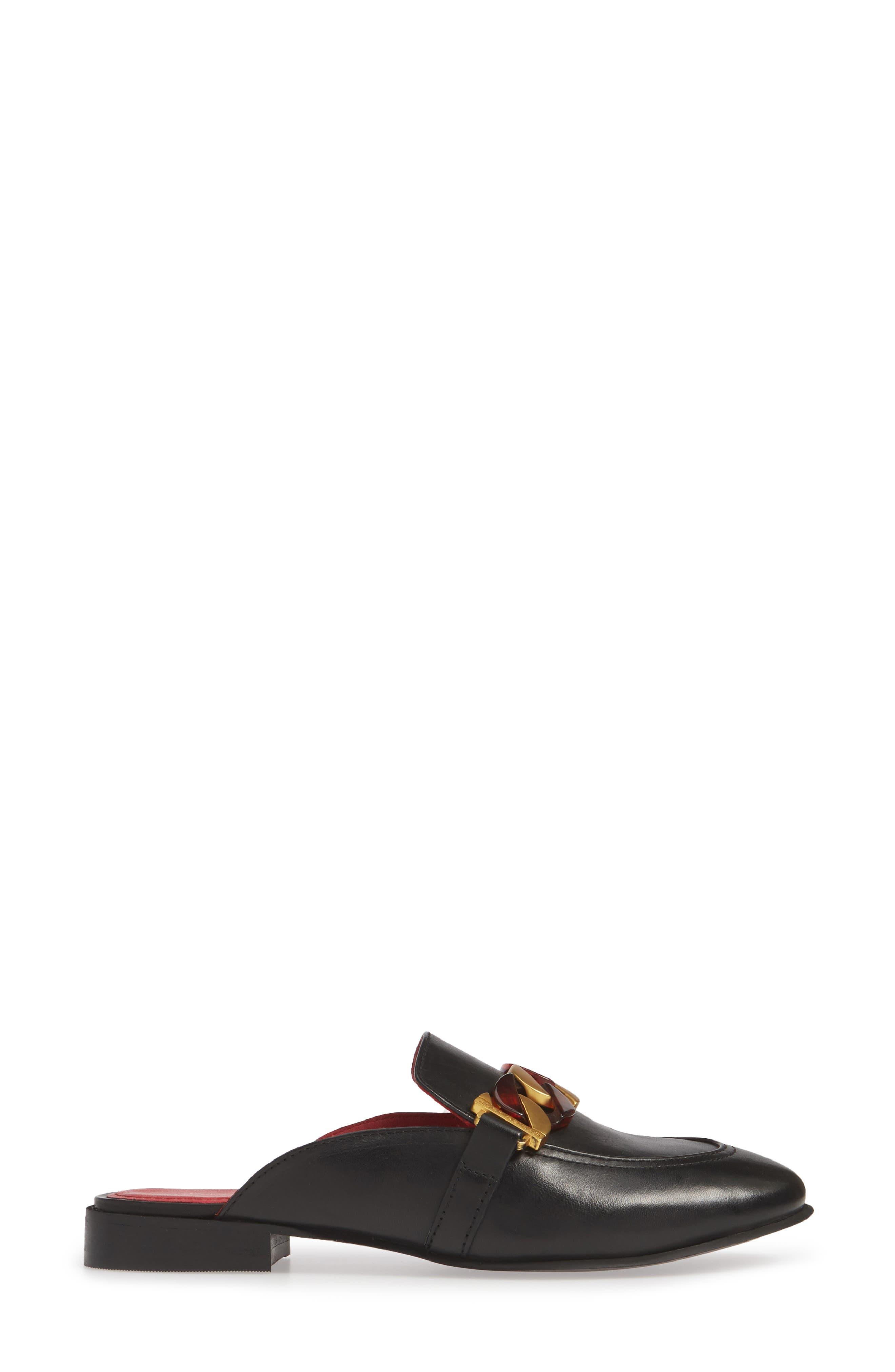 ,                             Kai Chain Loafer Mule,                             Alternate thumbnail 3, color,                             001