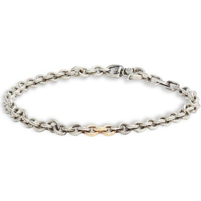 Title Of Work Sterling Silver & Gold Chain Bracelet