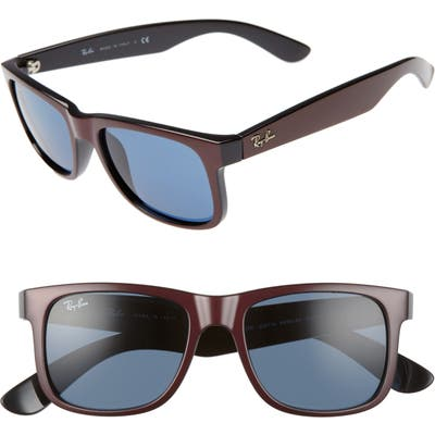 Ray-Ban Justin 51Mm Flat Top Sunglasses - Bordeaux/ Dark Blue Solid