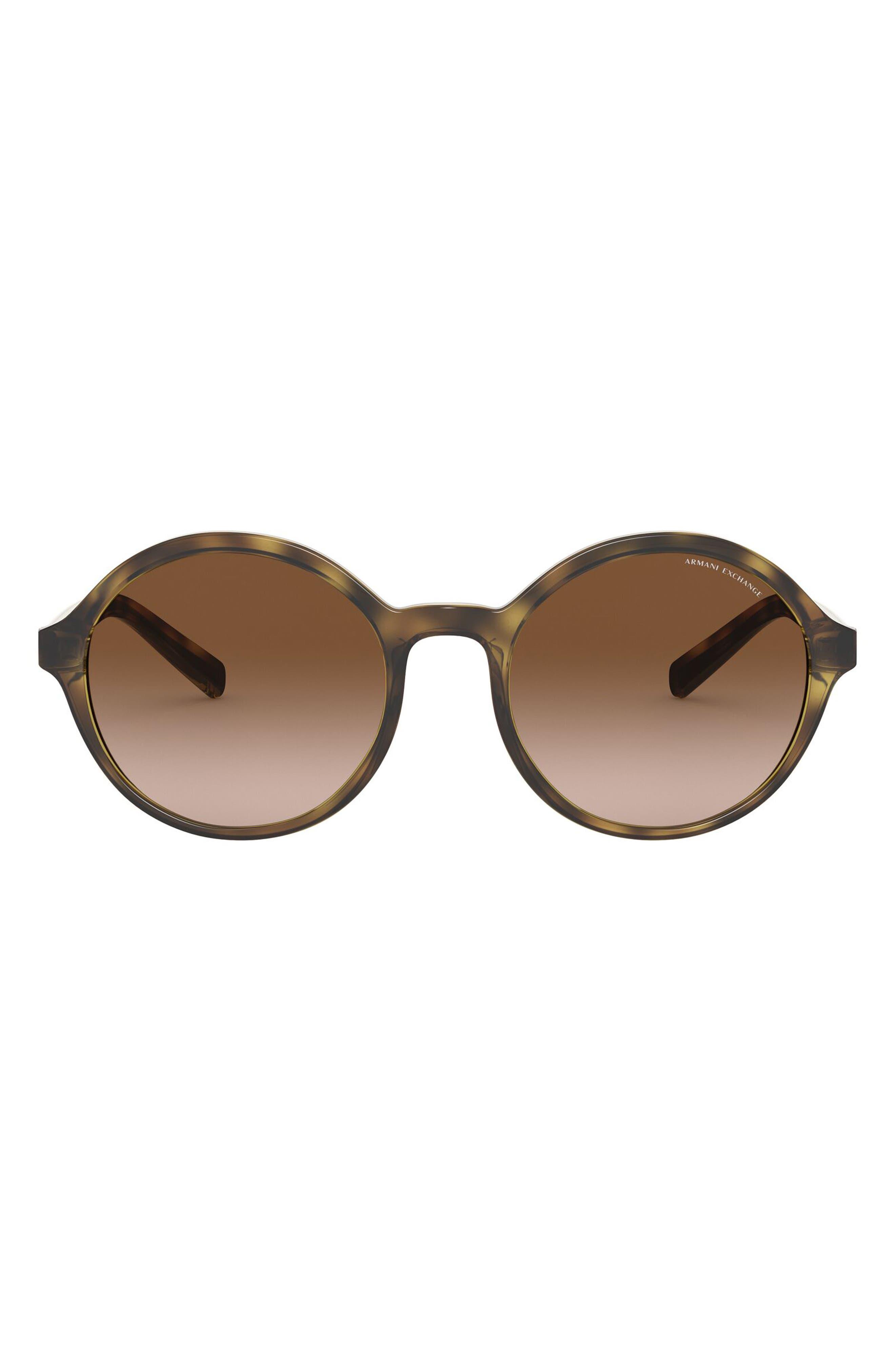 55mm Gradient Round Sunglasses