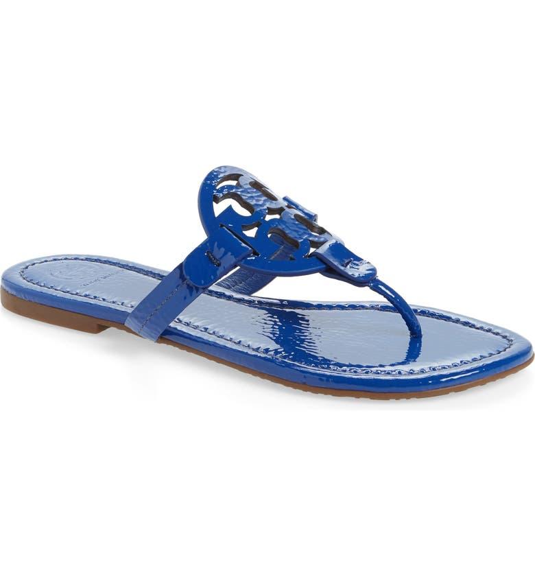TORY BURCH Miller Flip Flop, Main, color, NAUTICAL BLUE