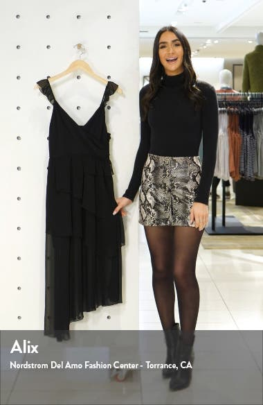 Alice Sheer Detail Asymmetrical Hem Dress, sales video thumbnail