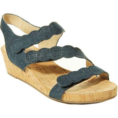 Vaneli Kabie Platform Wedge Sandal, Blue