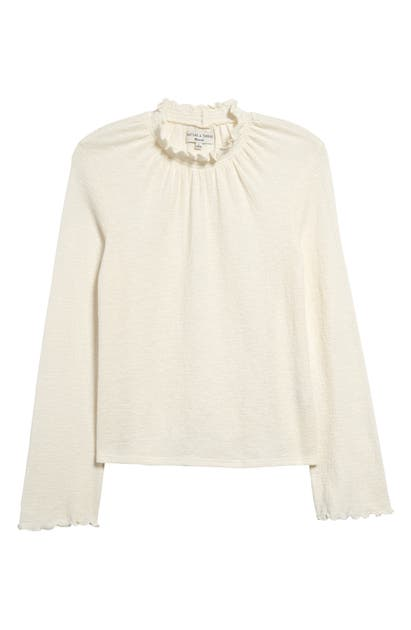 Madewell Tops TEXTURE & THREAD RUFFLED MOCK NECK TOP