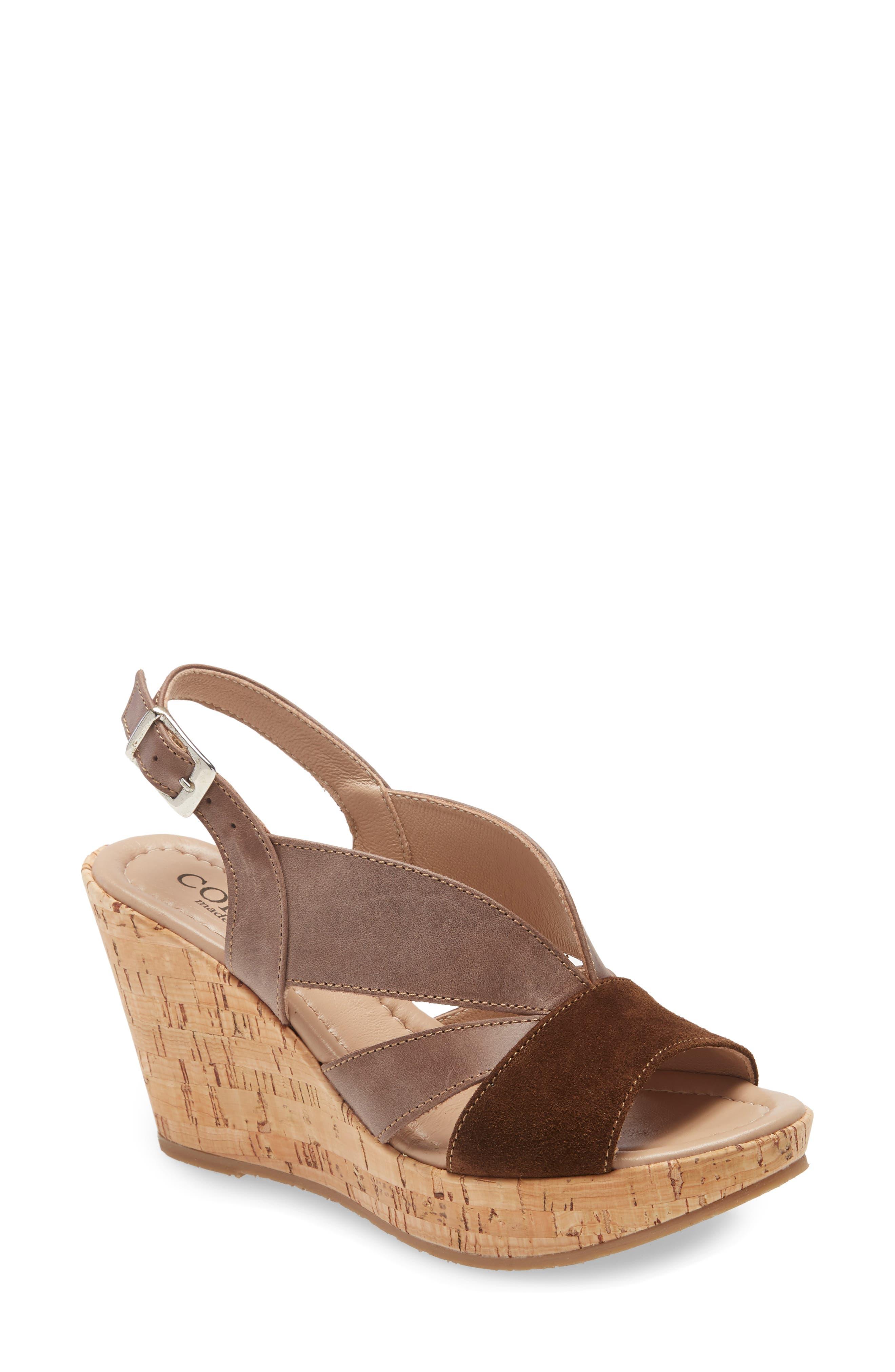 Randie Platform Wedge Slingback Sandal