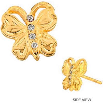 Mini Mini Jewels Diamond Icon Butterfly Earring