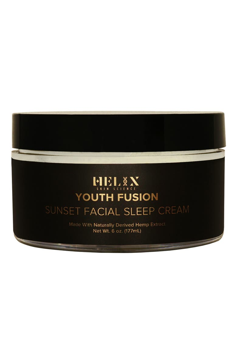 HELIX SKIN SCIENCE Youth Fusion Sunset Facial Sleep Cream with CBD, Main, color, NO COLOR