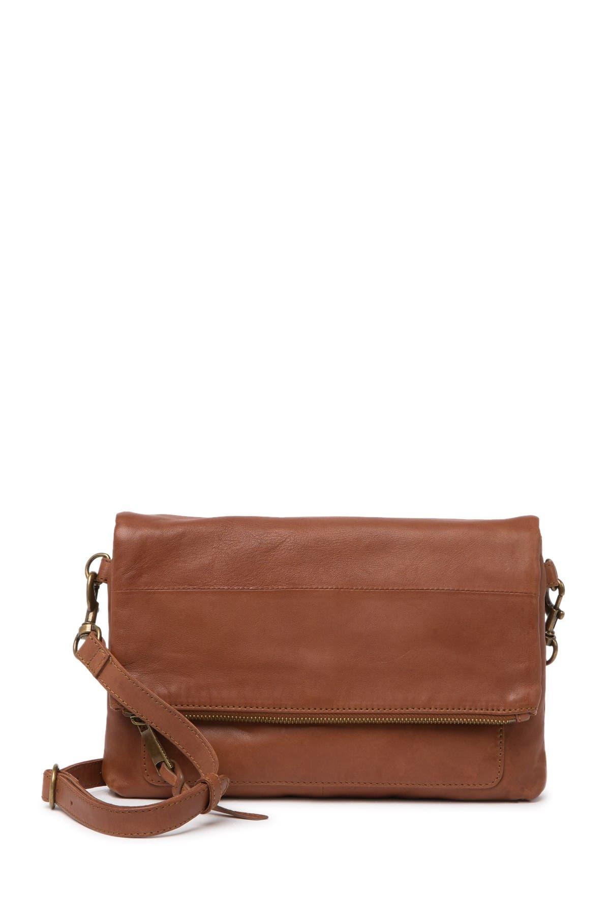 Image of Lucky Brand Caro Leather Flap Crossbody Bag
