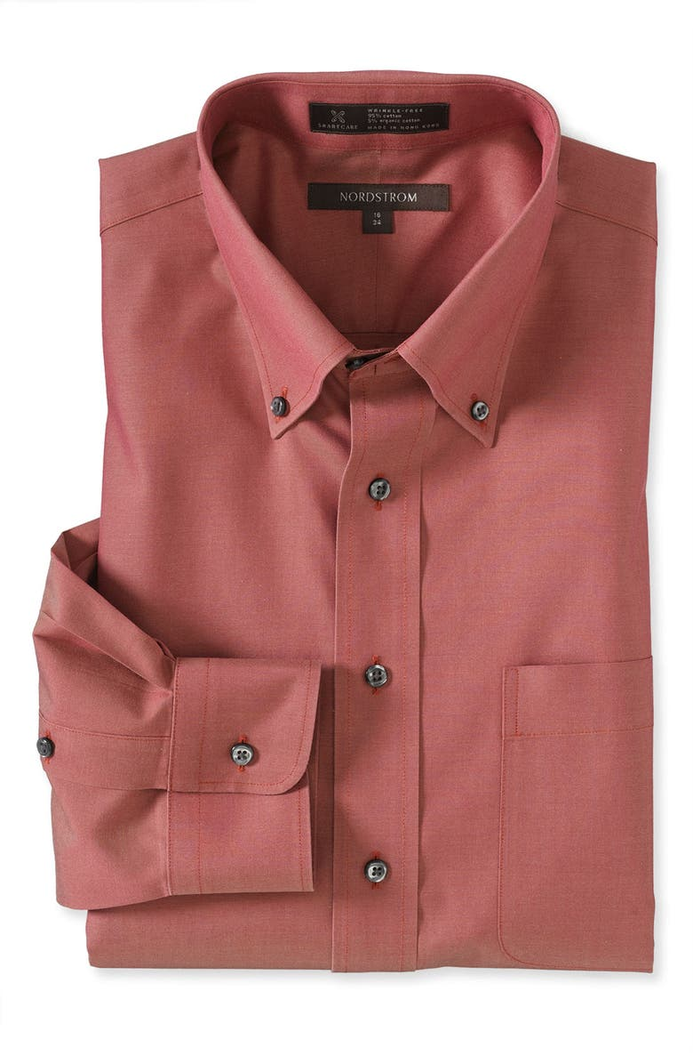 NORDSTROM MEN'S SHOP Nordstrom Smartcare<sup>™</sup> Classic Fit Pinpoint Dress Shirt, Main, color, 220