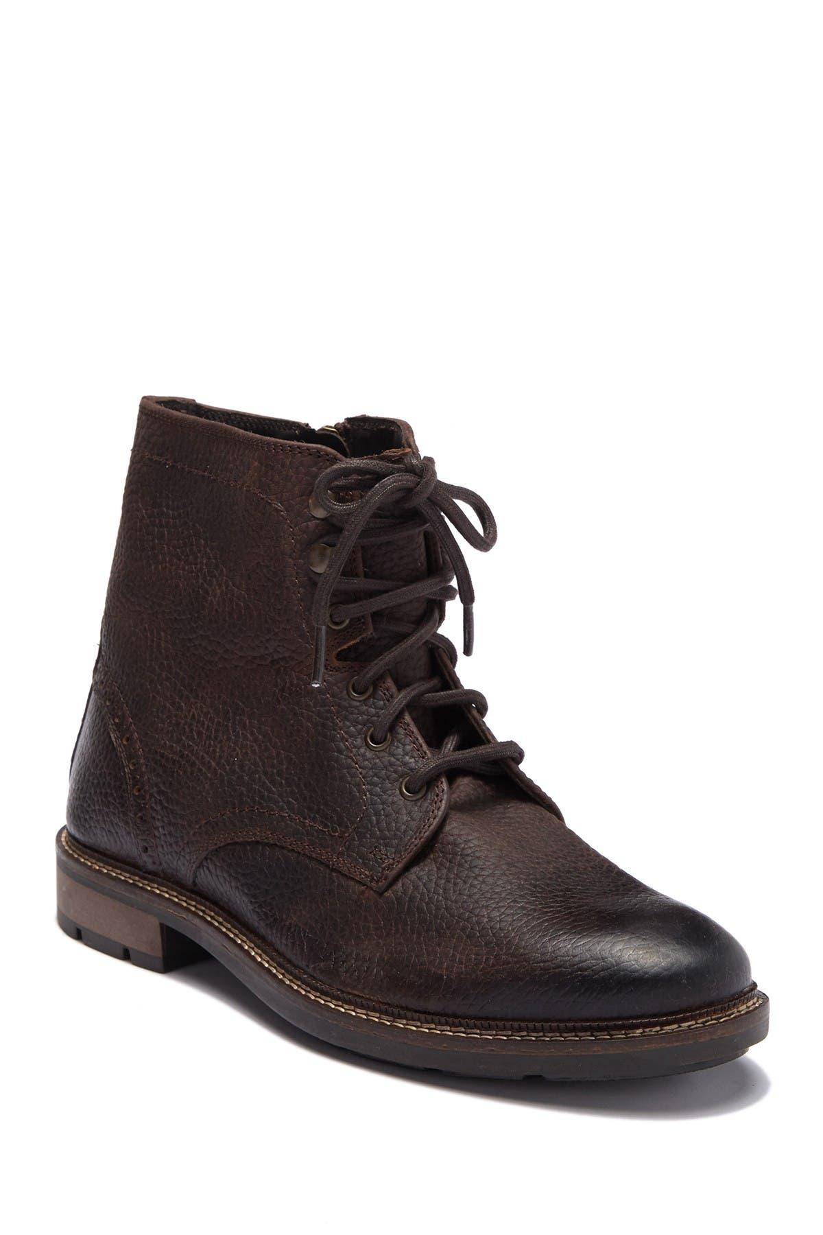 Image of Giorgio Brutini Neeno Textured Leather Lace-Up Boot
