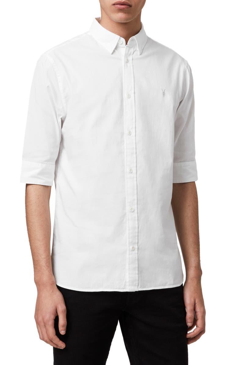 ALLSAINTS Redondo Slim Fit Sport Shirt, Main, color, 100
