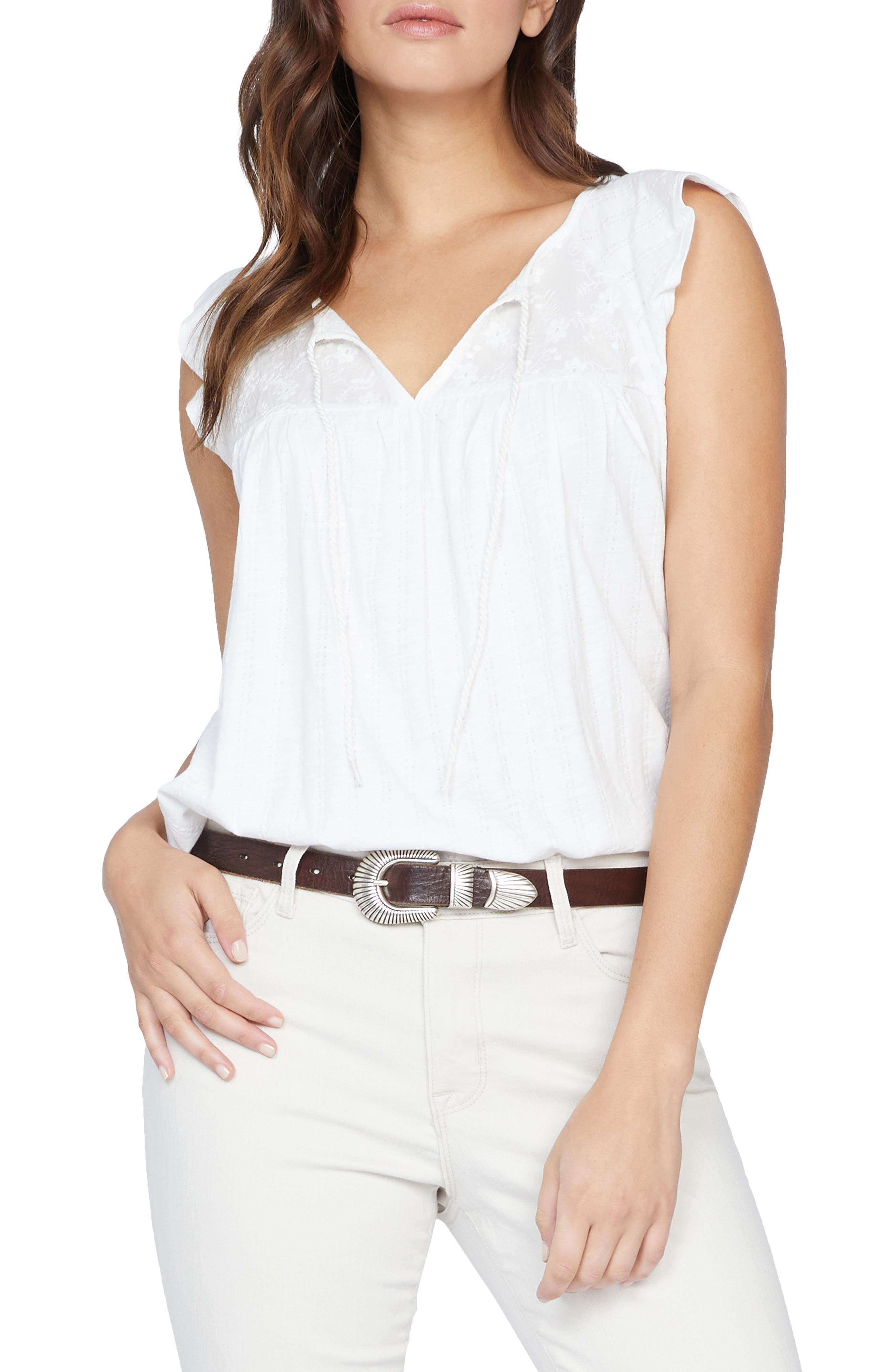 Image of Sanctuary Ava Embroidered Keyhole Top