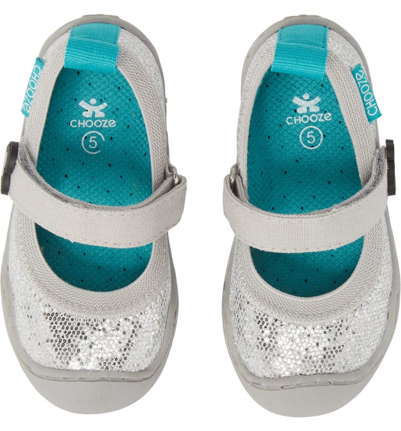 CHOOZE Steady Shimmer Mary Jane Sneaker, Main, color, 020