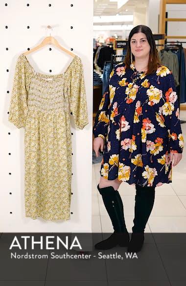 Nevaeh Smocked Midi Dress, sales video thumbnail