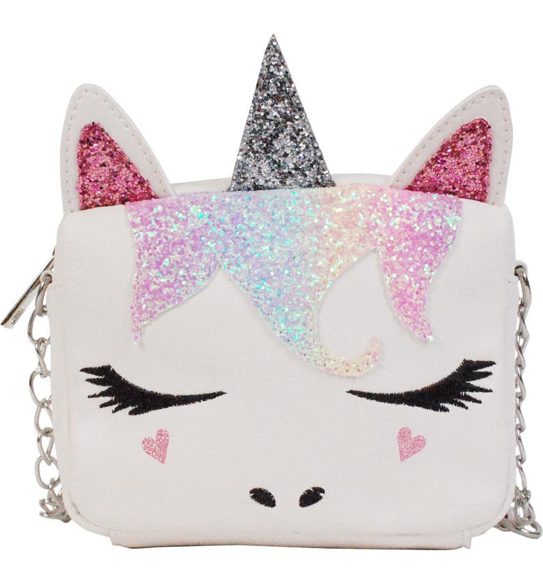 OMG Miss Gwen Unicorn Crossbody Bag, Main, color, WHITE