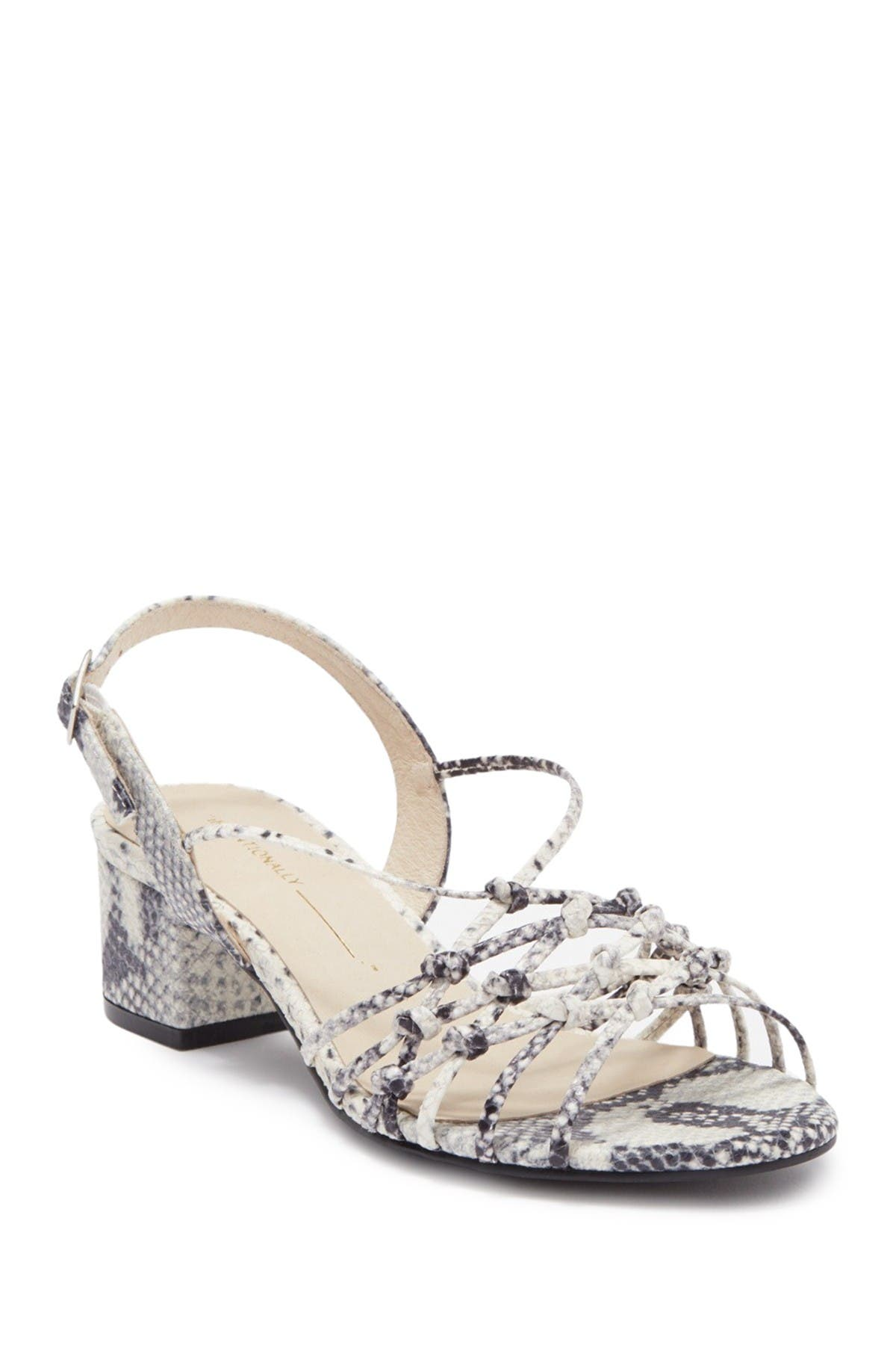 Image of Intentionally Blank Cream Grey Python Intertwined Sandal