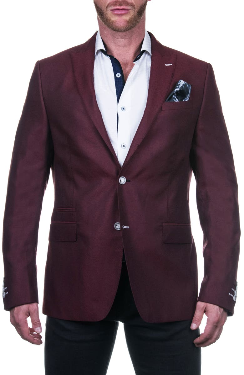 MACEOO Bethoven Jacquard Blazer, Main, color, RED