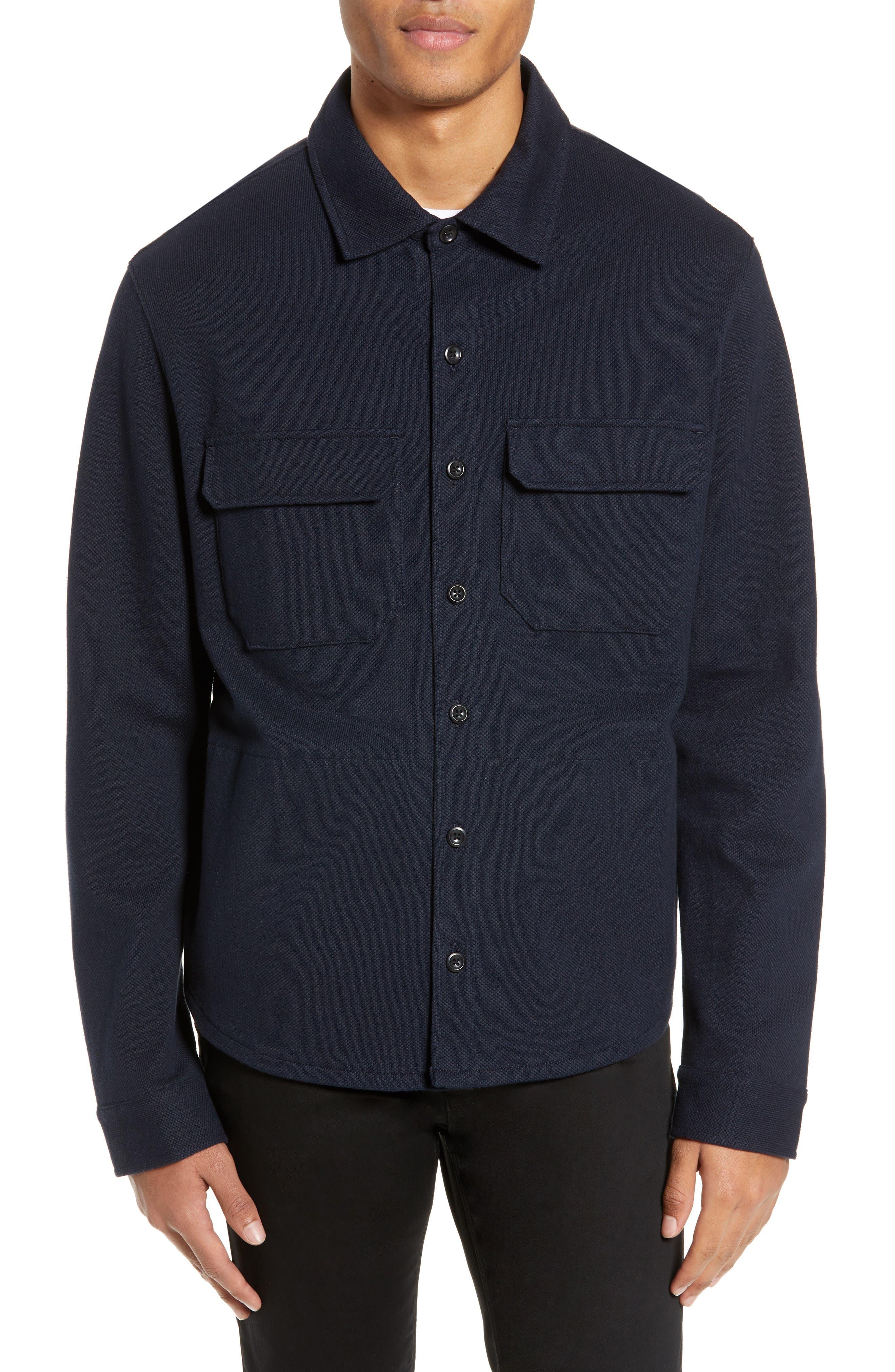 ,                             Slim Fit Shirt Jacket,                             Alternate thumbnail 5, color,                             COASTAL