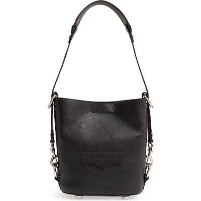Rebecca Minkoff Small Utility Convertible Leather Bucket Bag - Black
