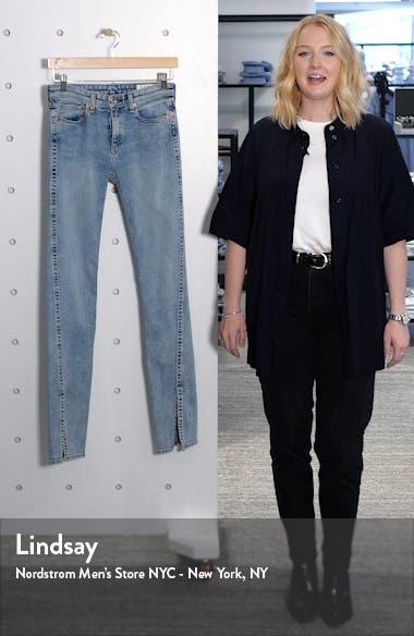 Cate Split Hem Skinny Jeans, sales video thumbnail