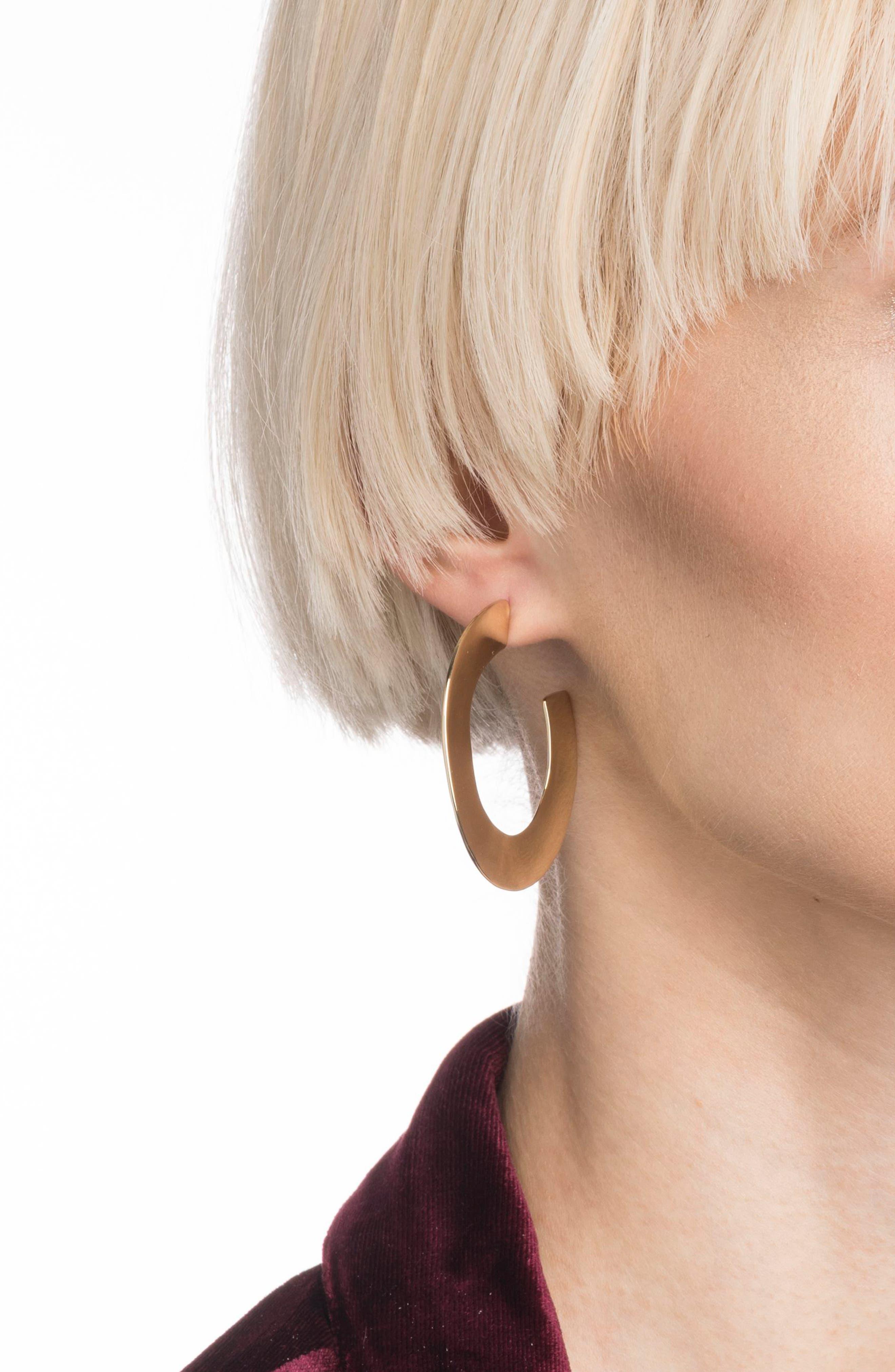 ,                             Liquid Metal Orbit Hoop Earrings,                             Alternate thumbnail 2, color,                             GOLD