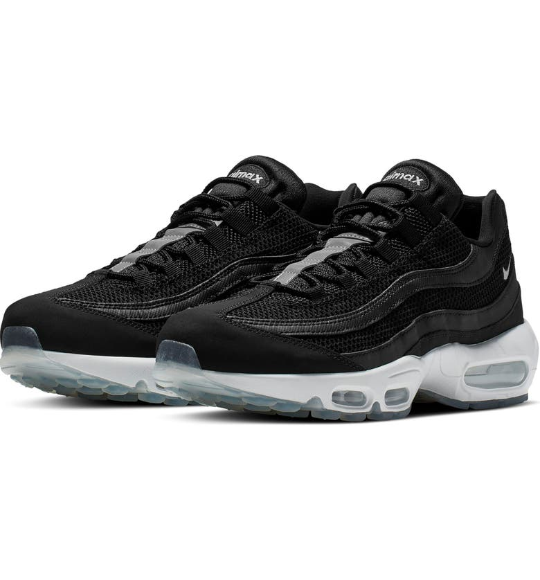 NIKE Air Max 95 Essential Sneaker, Main, color, BLACK/ WHITE/ REFLECT SILVER