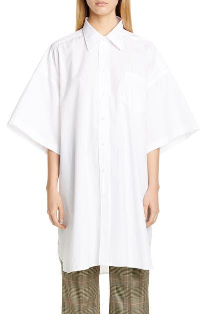 Maison Margiela Shirts OVERSIZE COTTON POPLIN SHIRT
