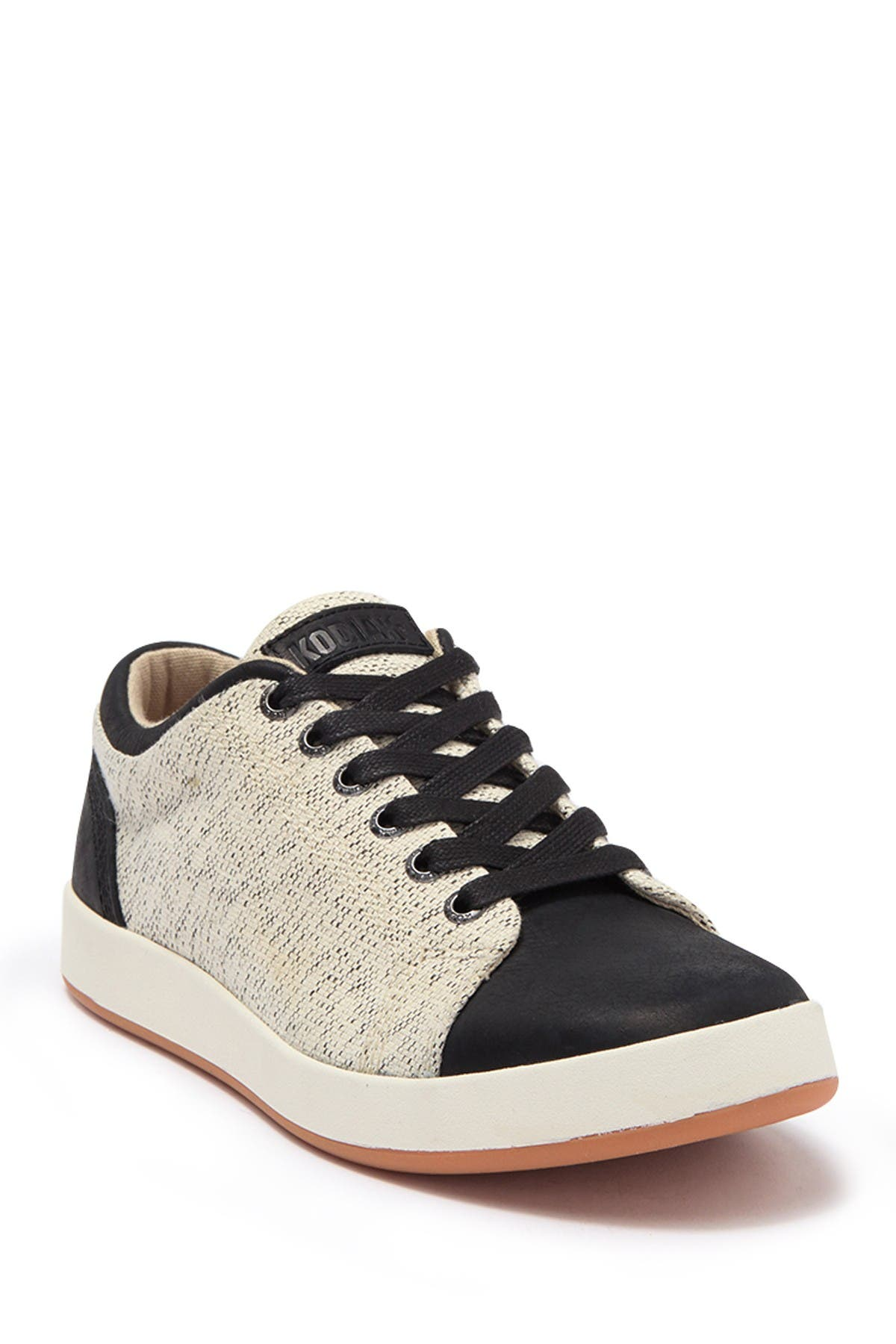 Image of Kodiak Indra Black & Cream Traction Textile Sneaker