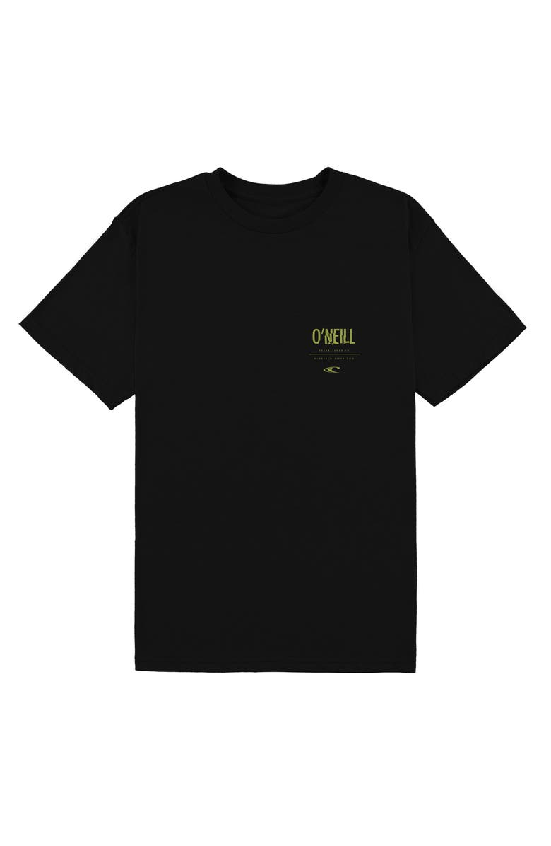 O'NEILL Worked Logo Graphic Cotton T-Shirt, Main, color, BLACK