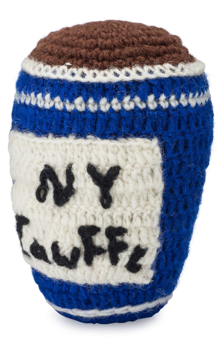 LOVETHYBEAST NY Deli Cup Wool Dog Toy, Main, color, BLUE