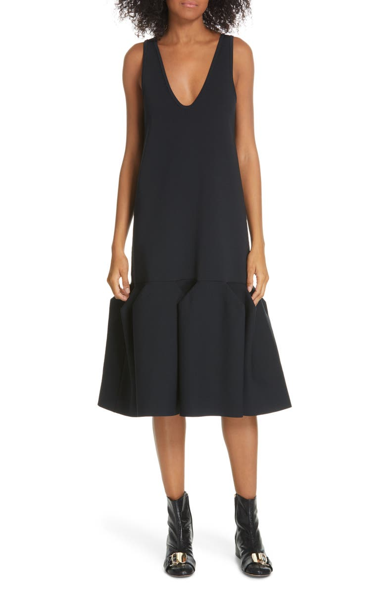 TIBI Sculpted Ribbed Dress, Main, color, 416