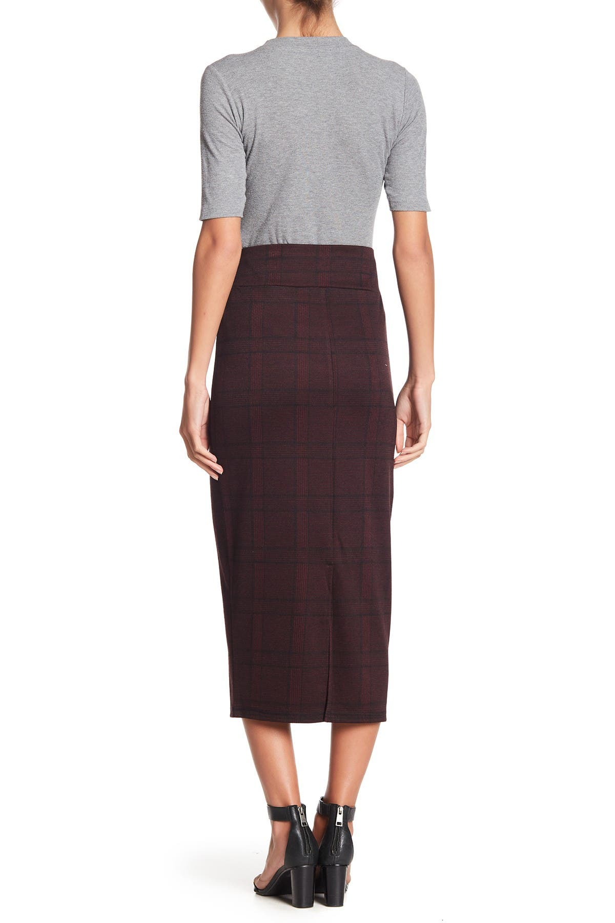 Image of 14th & Union Printed Pencil Midi Skirt