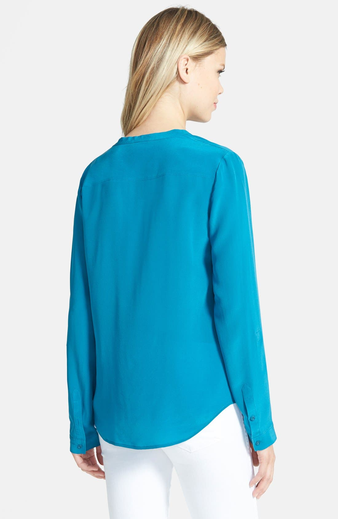 ,                             Collarless Silk Blouse,                             Alternate thumbnail 52, color,                             430