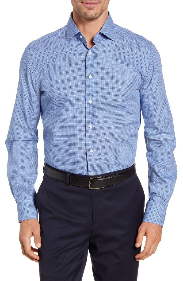 EMANUEL BERG Regular Fit Button-Up Shirt, Main, color, NAVY