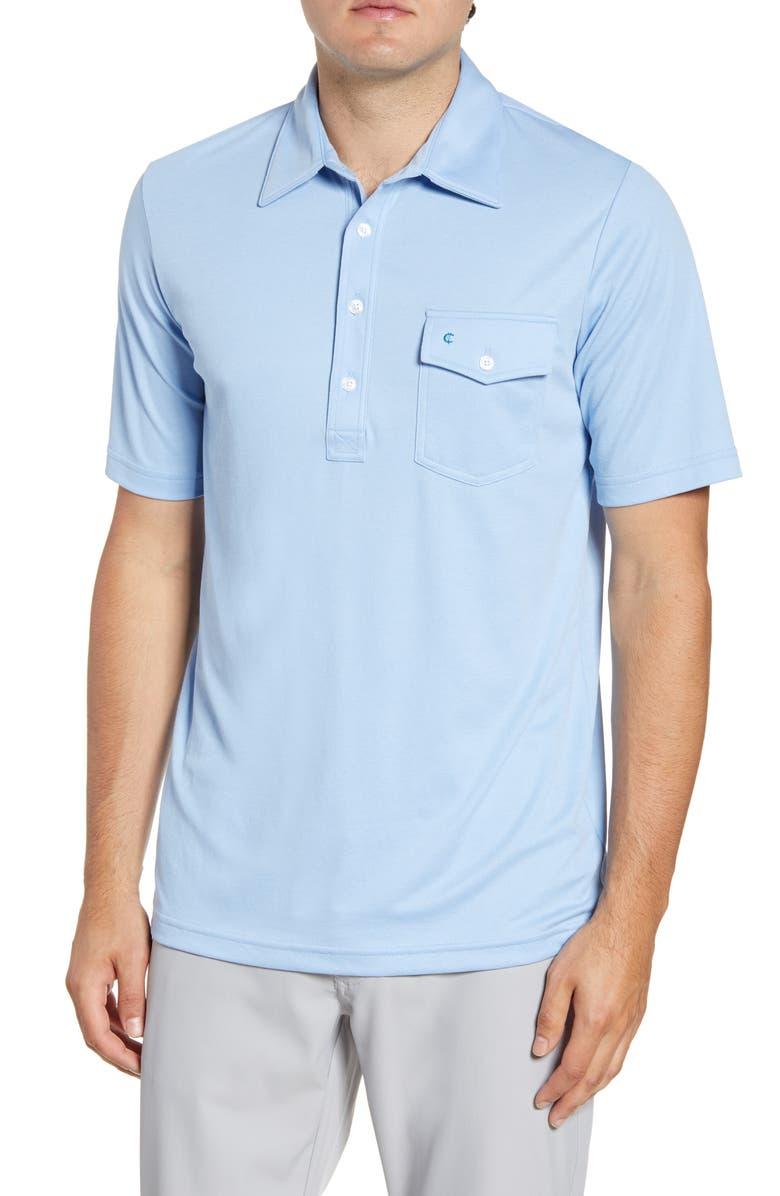 CRIQUET Players Regular Fit Solid Pocket Polo, Main, color, LIGHT BLUE