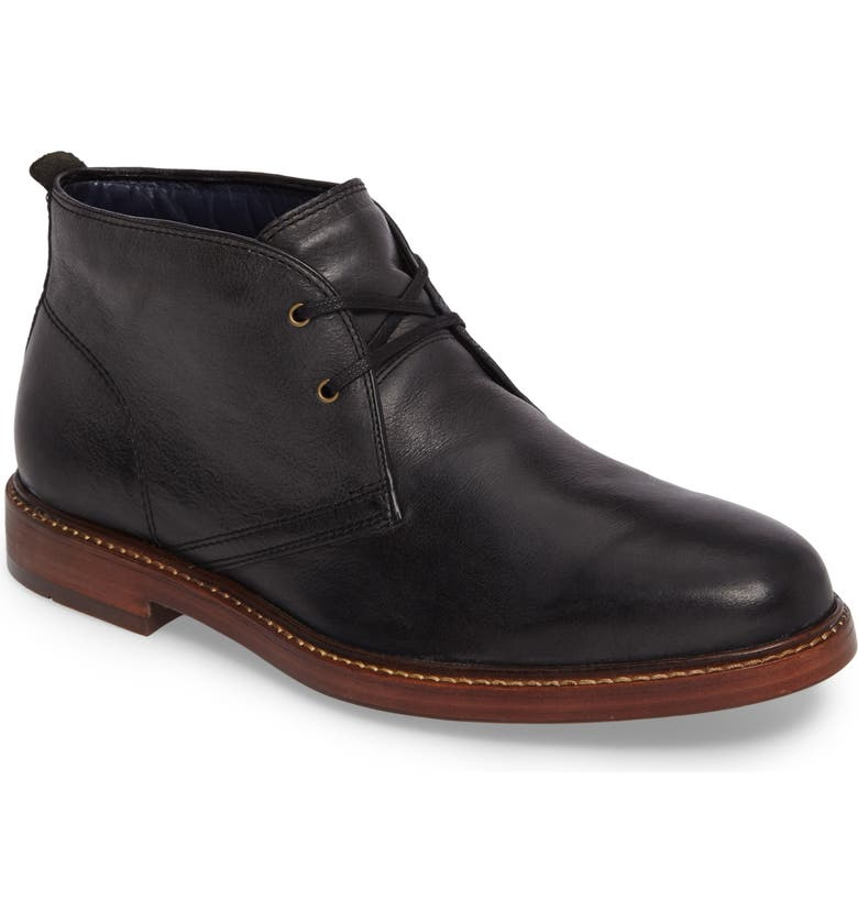 COLE HAAN Tyler Chukka Boot, Main, color, BLACK/ CAVIAR LEATHER
