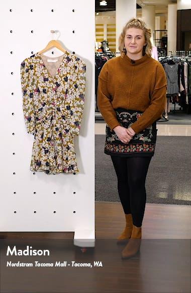 Floral Ruched Waist Minidress, sales video thumbnail