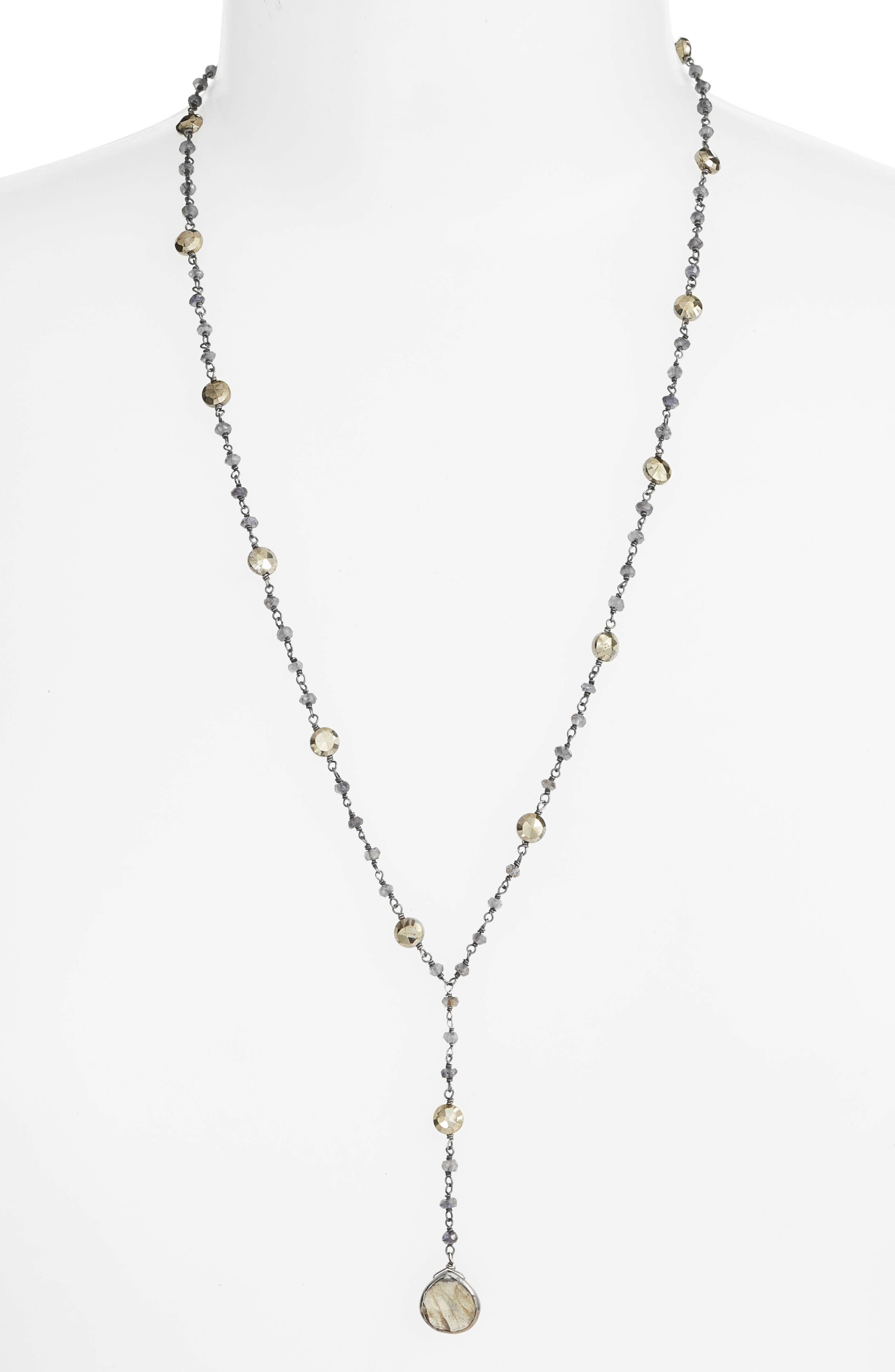 Yaeli Satellite 24 Semiprecious Stone Y-Necklace