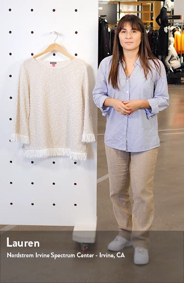 Fringe Trim Sweater, sales video thumbnail
