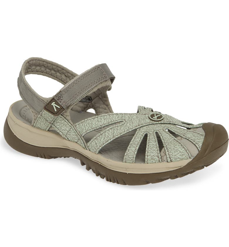 KEEN 'Rose' Sandal, Main, color, LILY PAD/ CELADON FABRIC