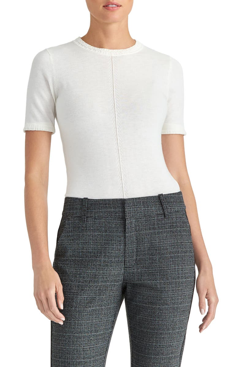RACHEL ROY COLLECTION Short Sleeve Sweater, Main, color, NATURAL