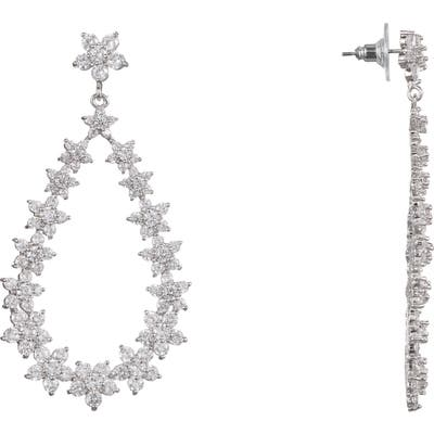 Nina Pave Floral Teardrop Earrings