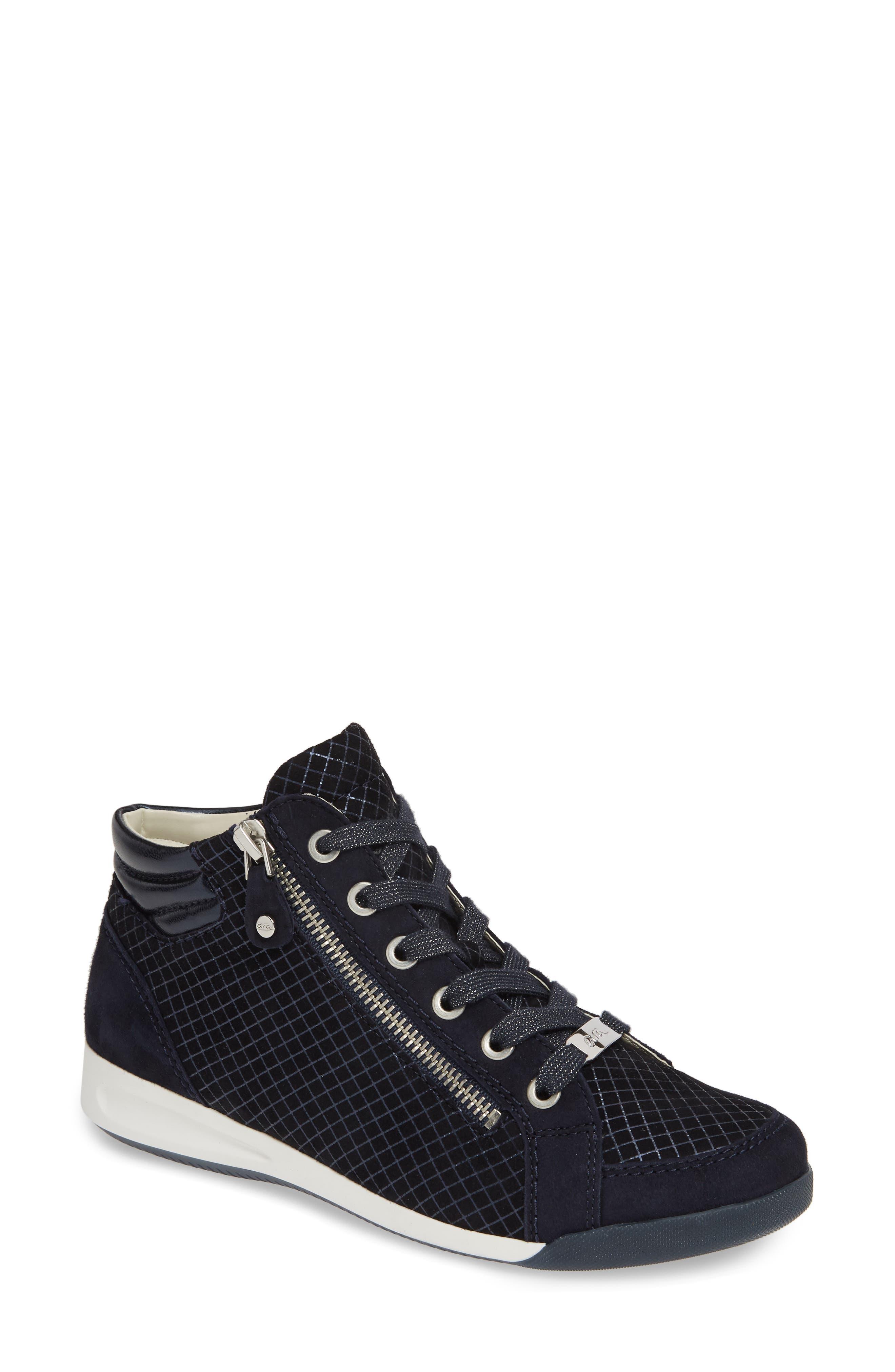 Ara Rylee High Top Sneaker, Black